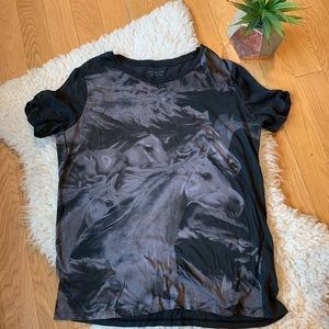 ALL SAINTS horse t shirt